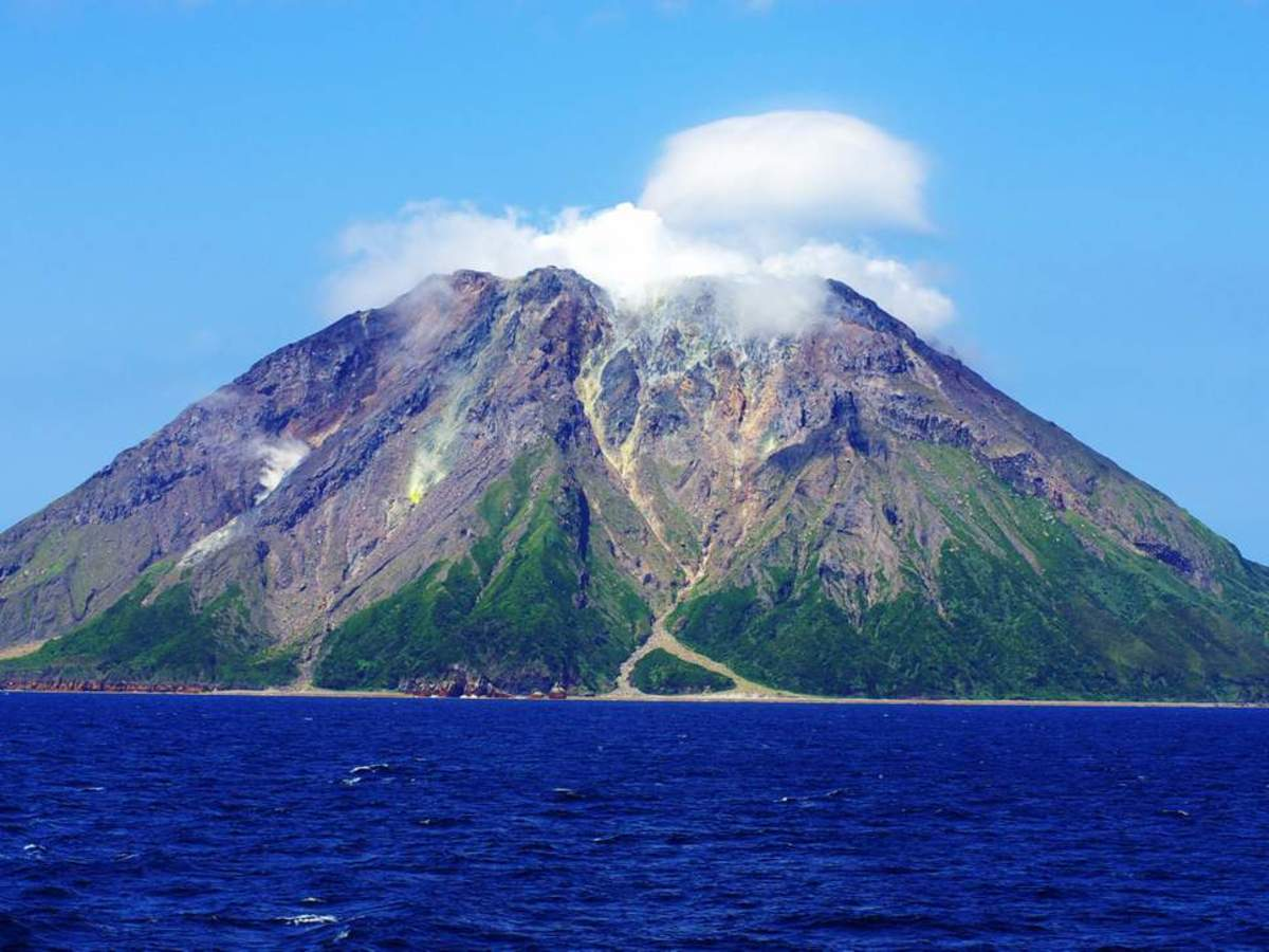 Iwo Jima island, located off the southern coast of Japan, marks the northern edge of a newly discovered underwater supervolcano, named Kikai