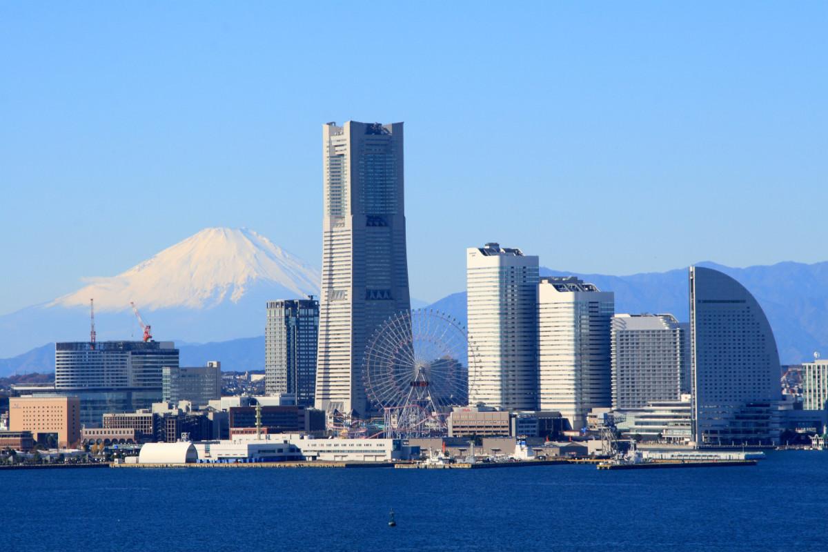 Yokohama With Mt. Fuji in the Background (Taken From the Yokohama Skywalk)
