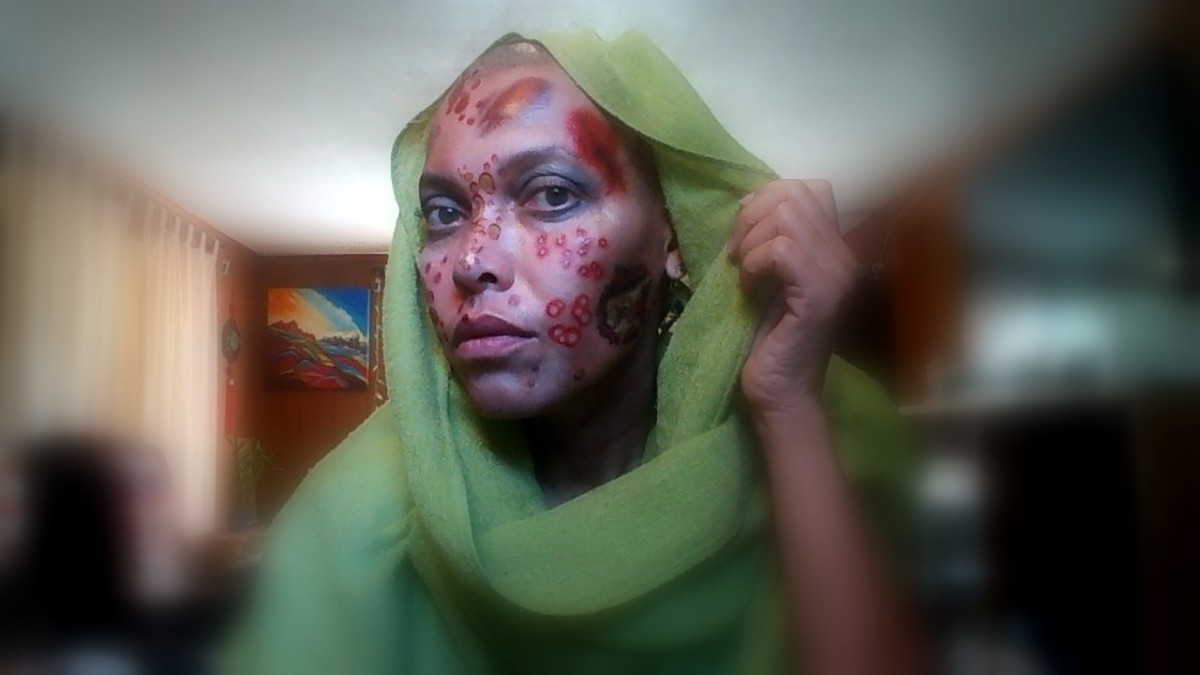 Halloween Makeup Effects With Temporary Tattoos