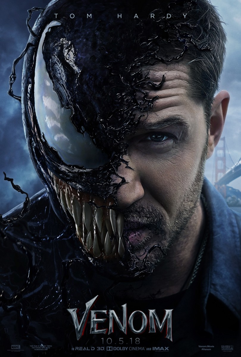 "The official one-sheet theatrical poster for, ""Venom."""