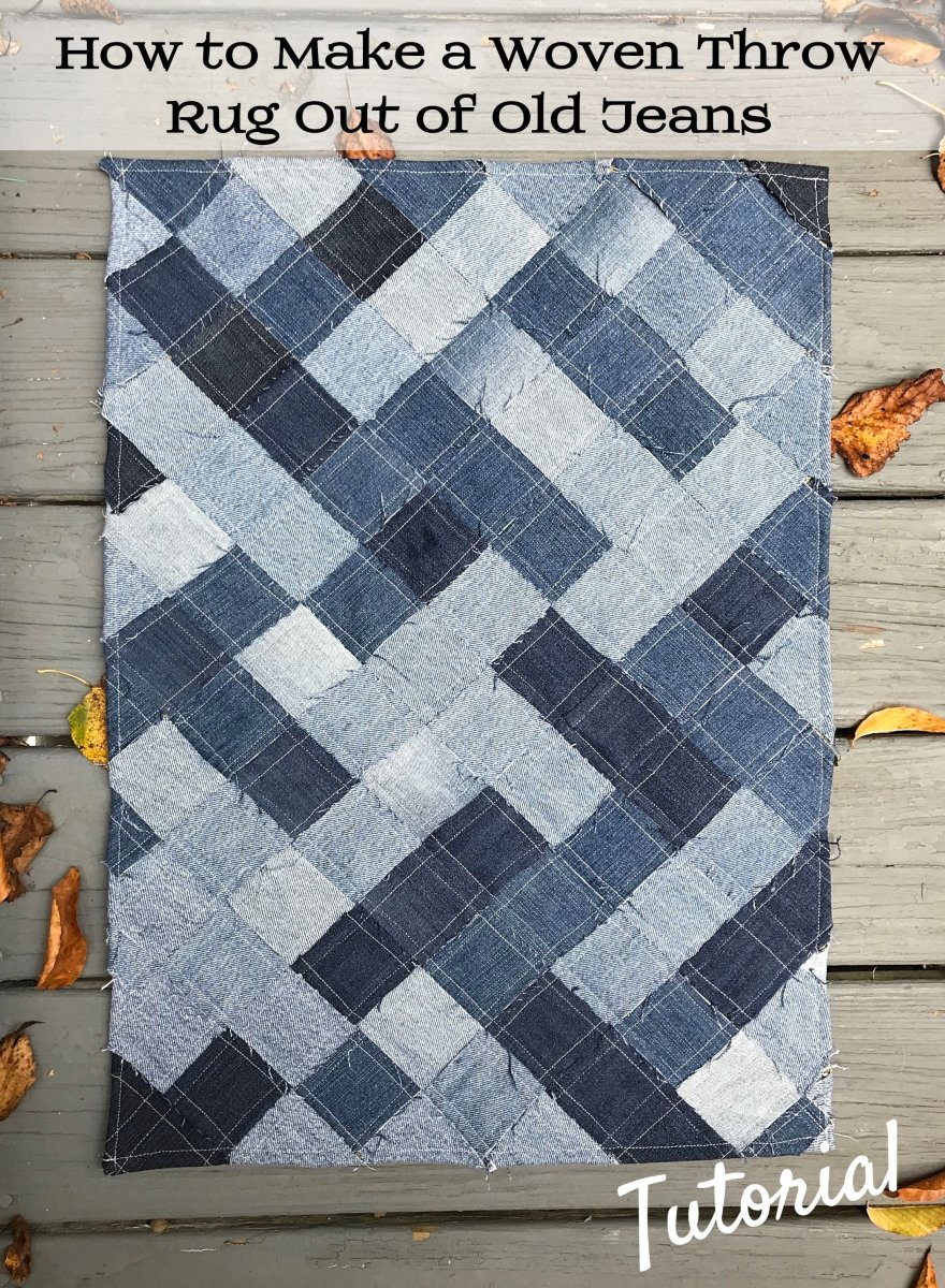 How to Make a Woven Throw Rug out of Recycled Denim Jeans