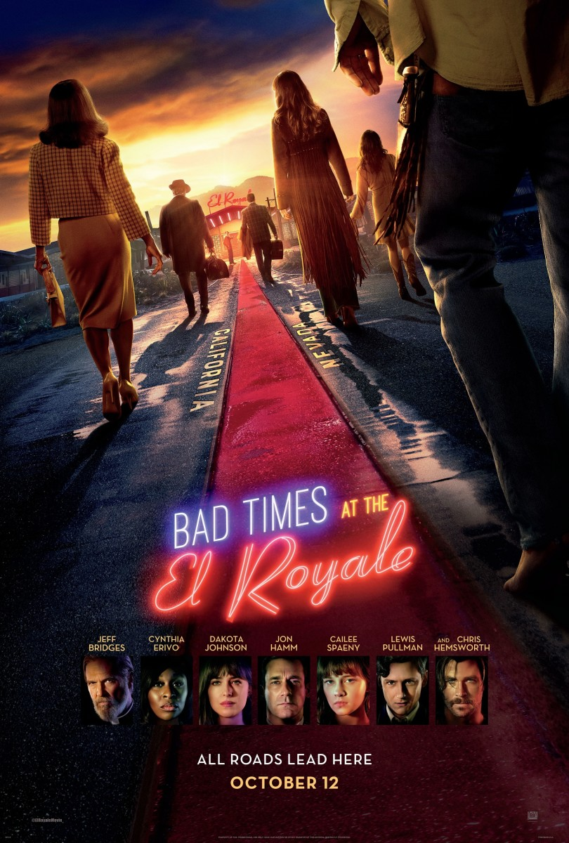 "One of the official one-sheet theatrical posters for, ""Bad Times at the El Royale."""