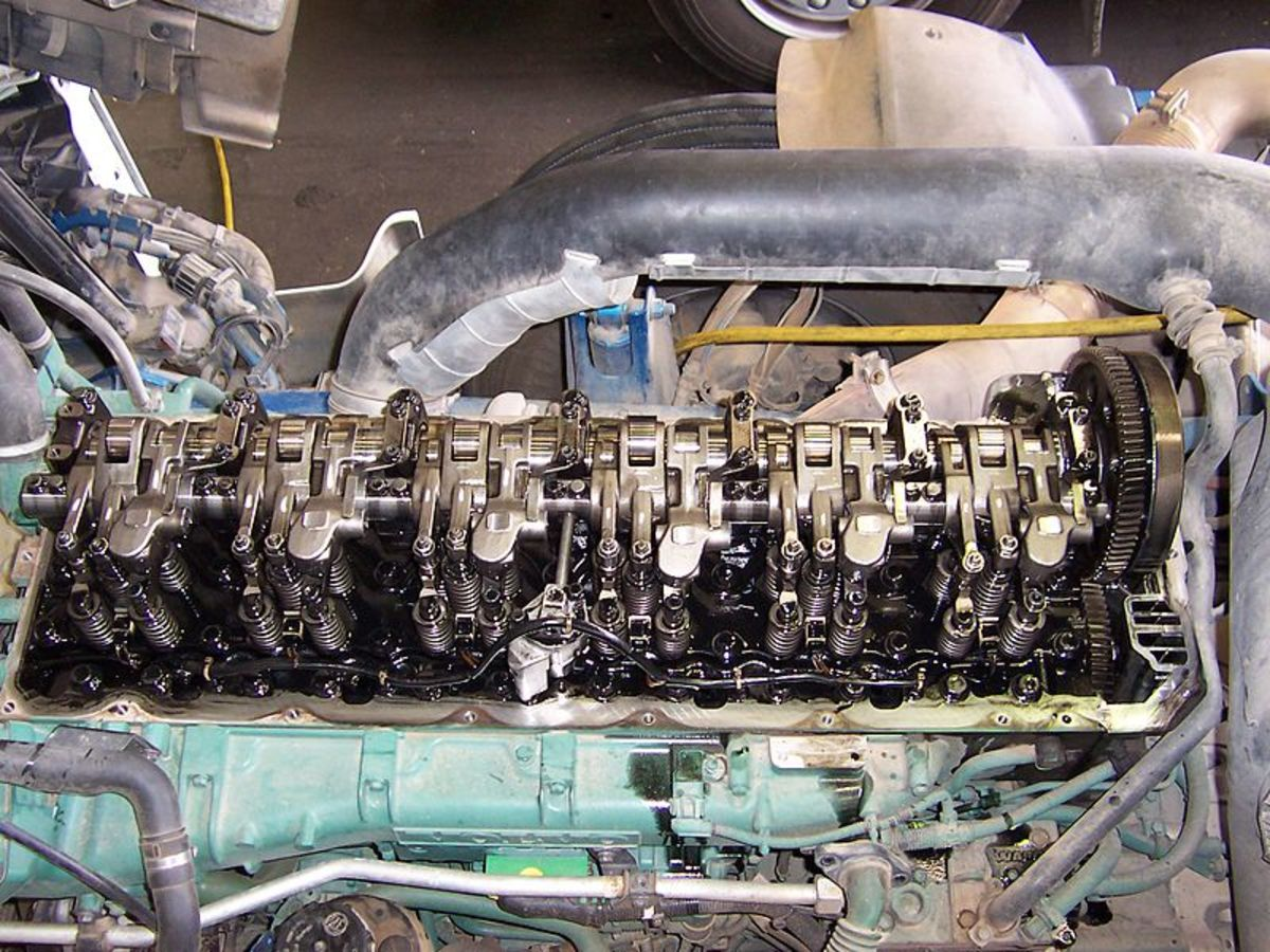 The valve train can develop problems that affect engine performance.