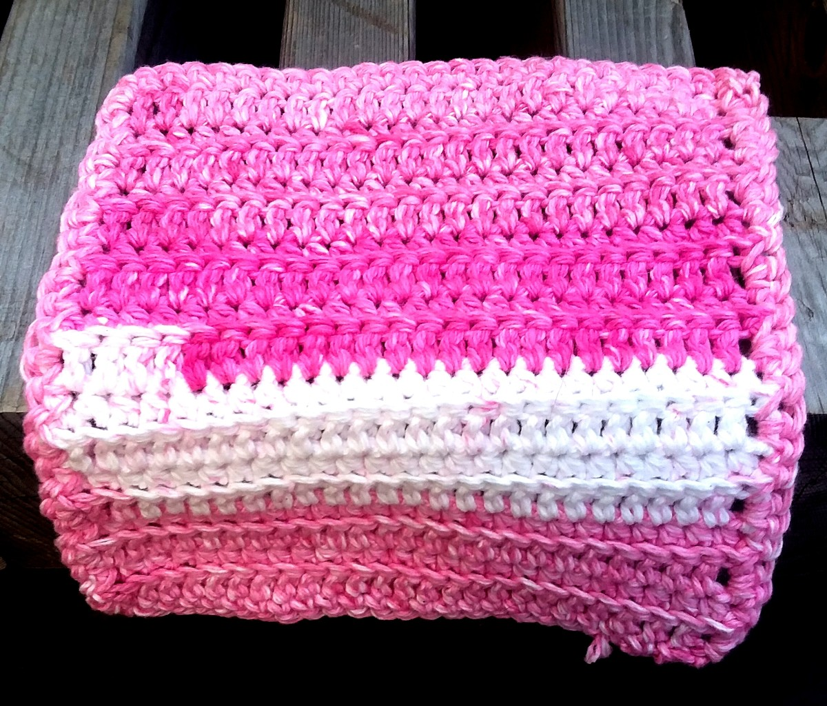 Ribbed Crochet Dishcloth Pattern