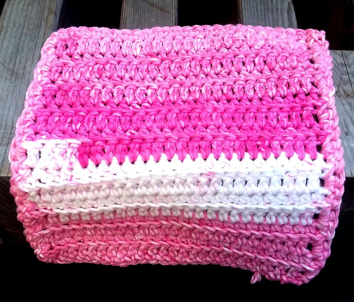Ribbed Crochet Dishcloth Pattern Feltmagnet