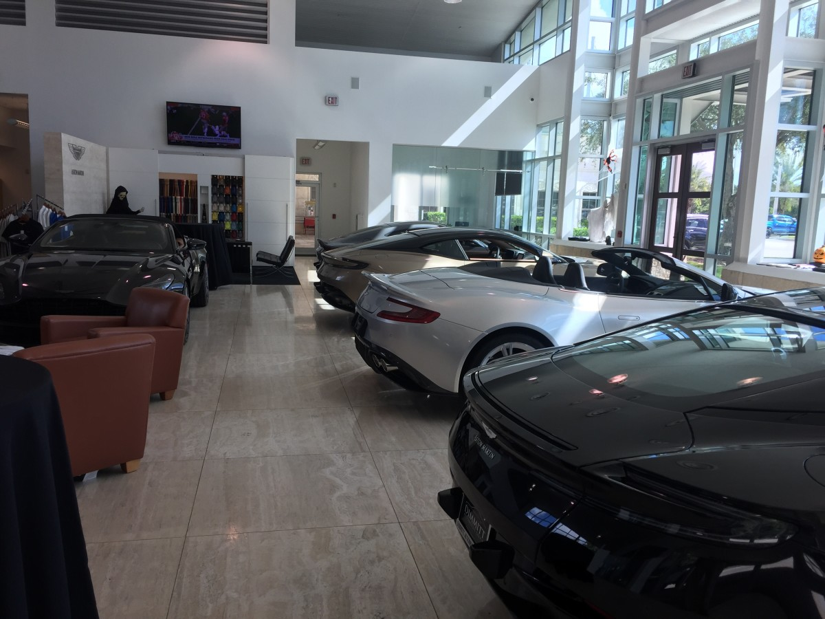 My office at the new car gallery in Dimmitt Aston Martin of Tampa Bay