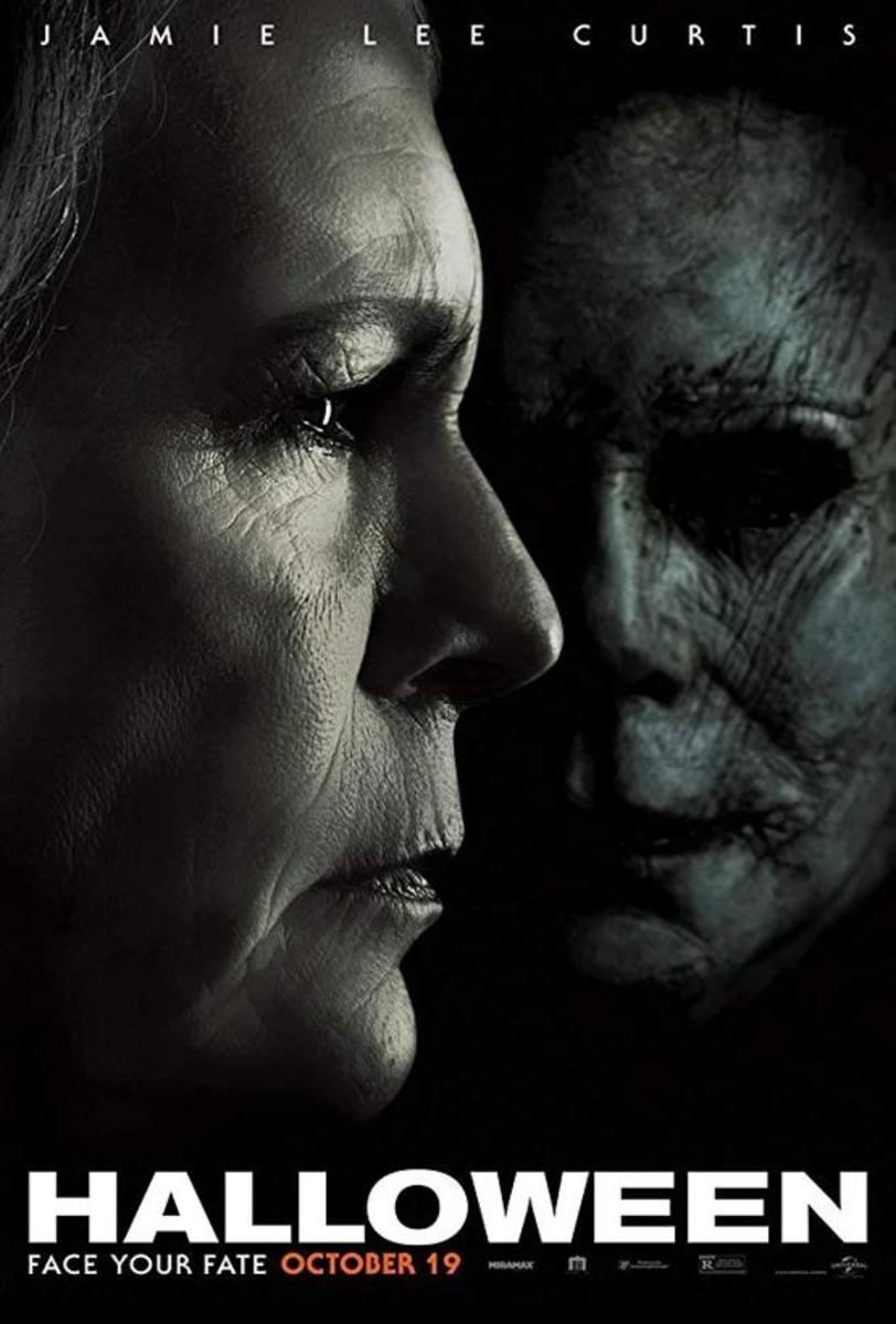 "The official one-sheet theatrical poster for, ""Halloween."""