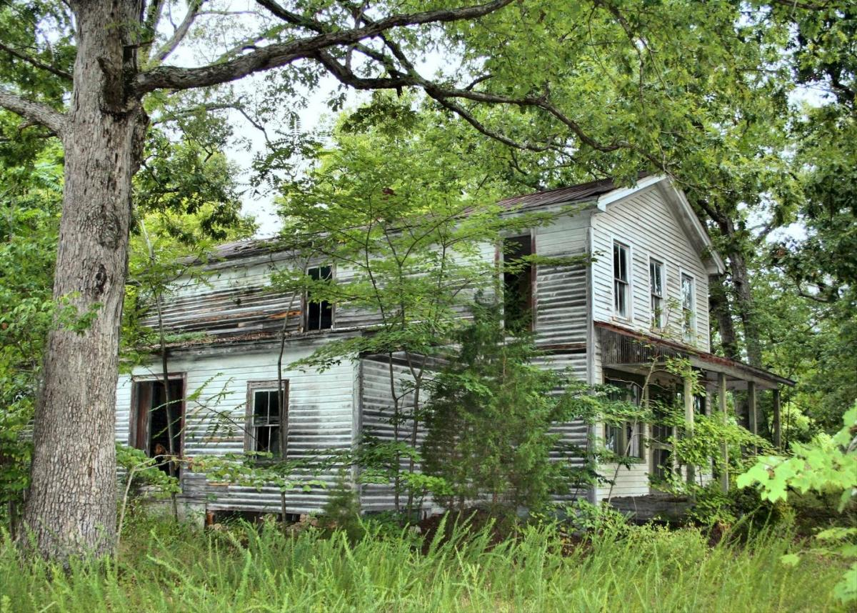 This deserted house is every bit in detail of how the house looked on The Randall Place that is in my piece.