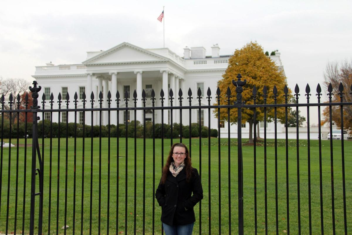 Me in front of the White House, 2012