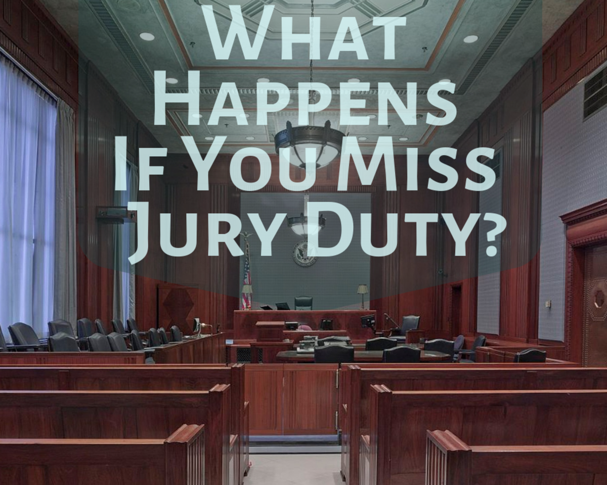 If you miss jury duty, what's the worst thing that could happen?