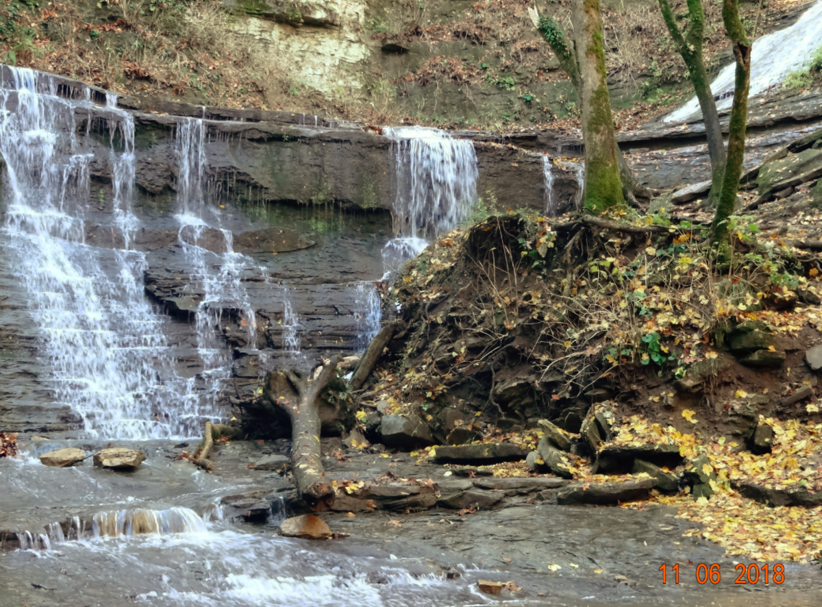 Jackson Falls Tennessee on the Natchez Trace Parkway.