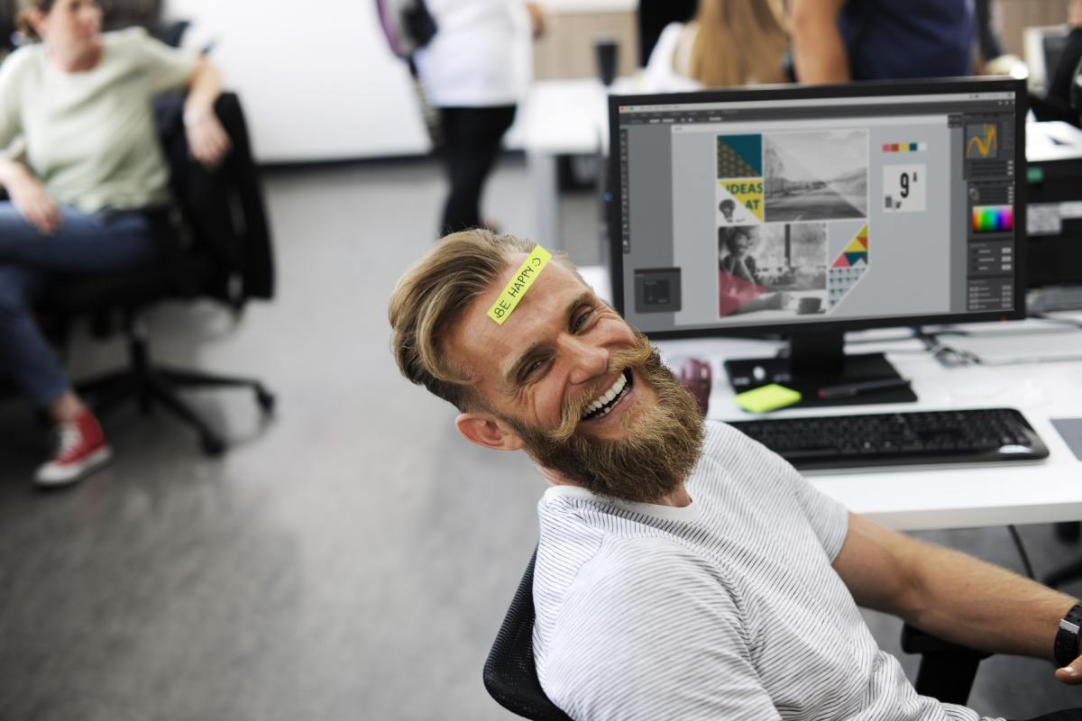 There are a few simple things you can do to feel happier at work.