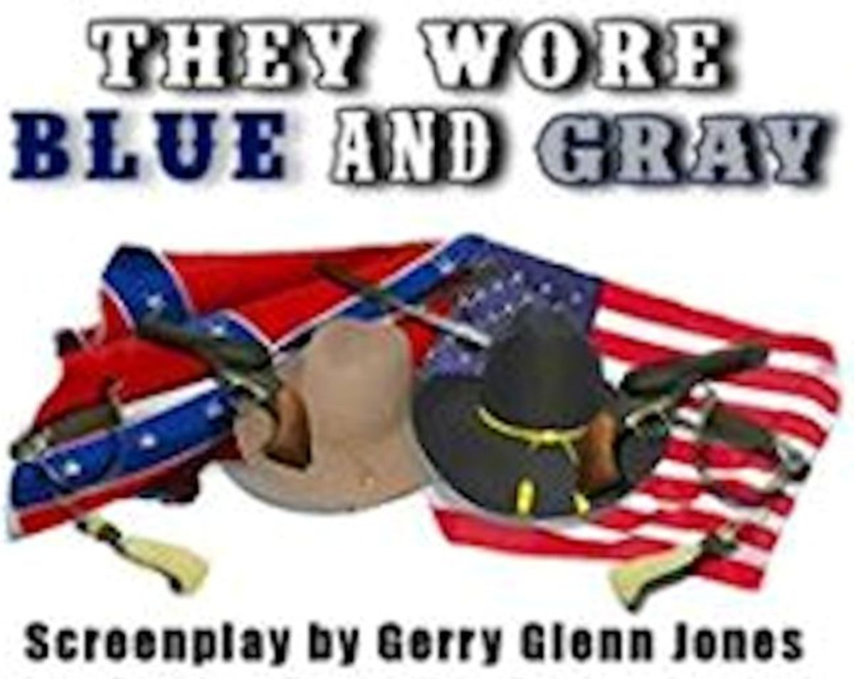 """They Wore Blue and Gray"" poster"