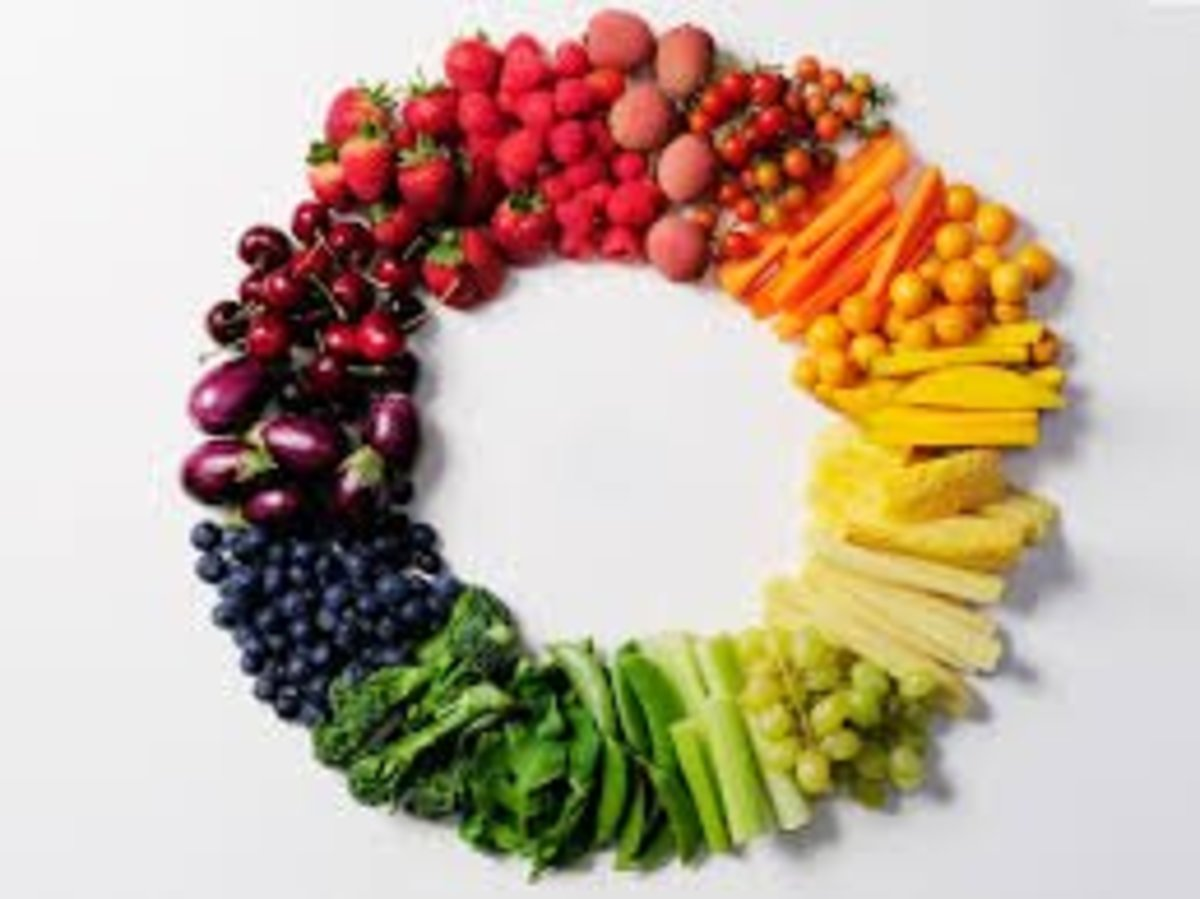 The brighter the fruit or vegetable, the more nutritious! Eat foods from all colors of the rainbow for a balanced diet.