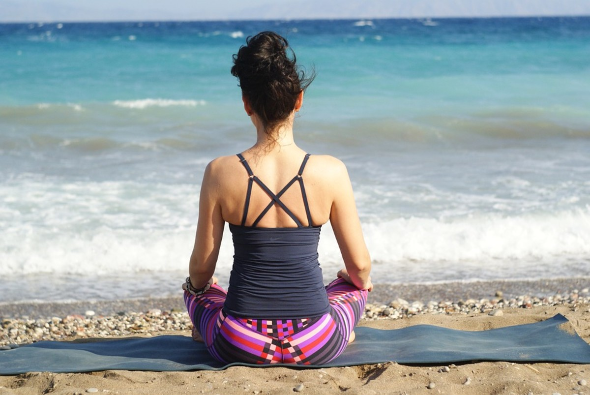 Meditation can reduce stress and relieve period pain.