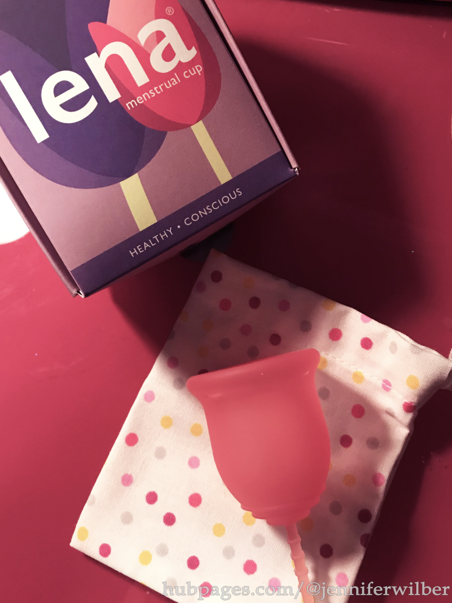 Reusable menstrual products, including the Lena cup, other silicone menstrual cups, and cloth pads, may reduce period pain for some women.