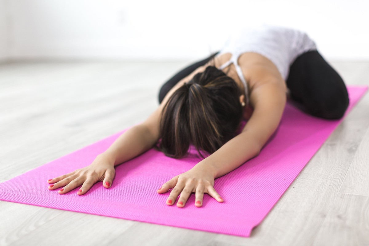 Child's pose can help to relieve stress and anxiety.