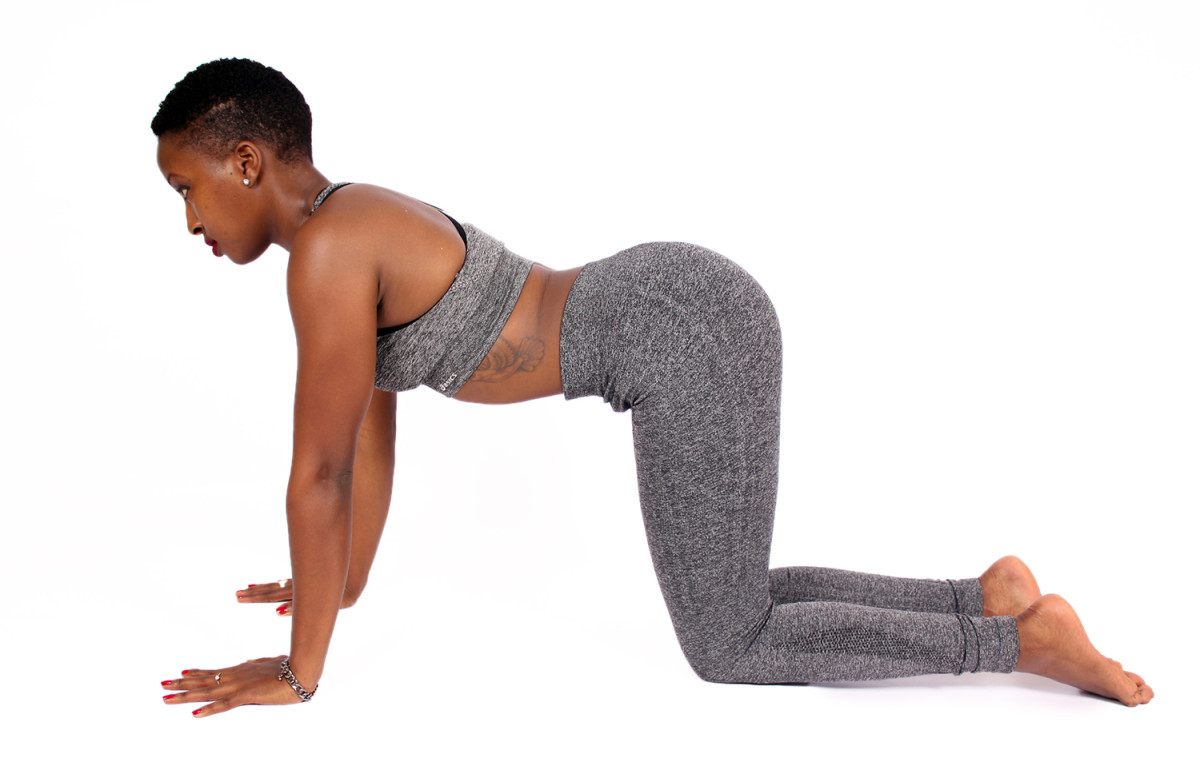 Cat-cow pose helps to relieve anxiety and depression.