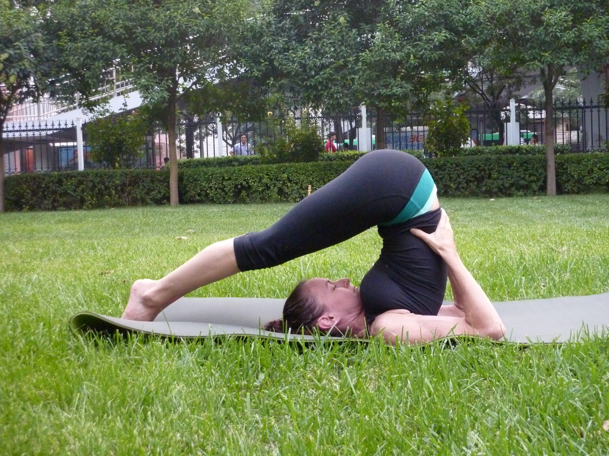 Plow pose relieves stress that his held in your lower back.