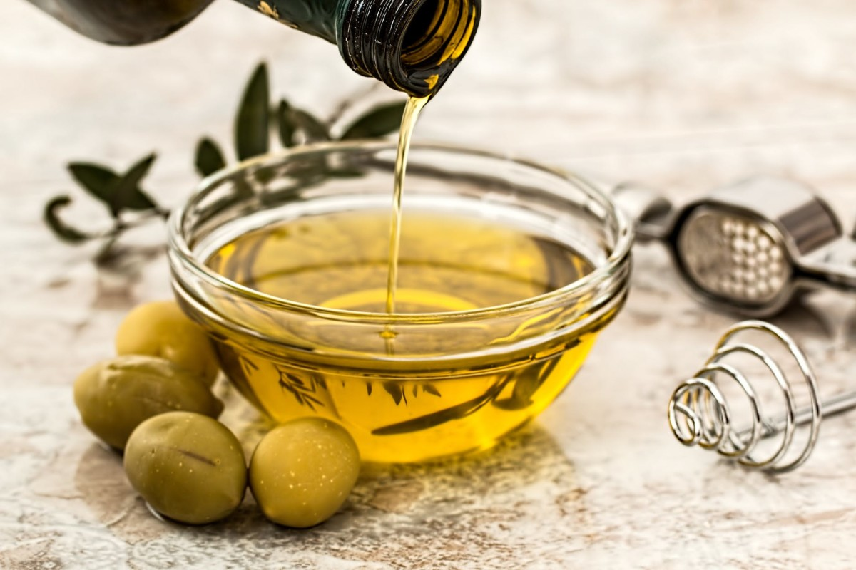 Olive oil is a popular carrier oil because of its moisturizing benefits.