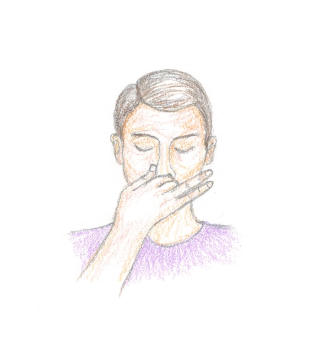 Alternate Nostril Breathing: Artwork by SP Austen