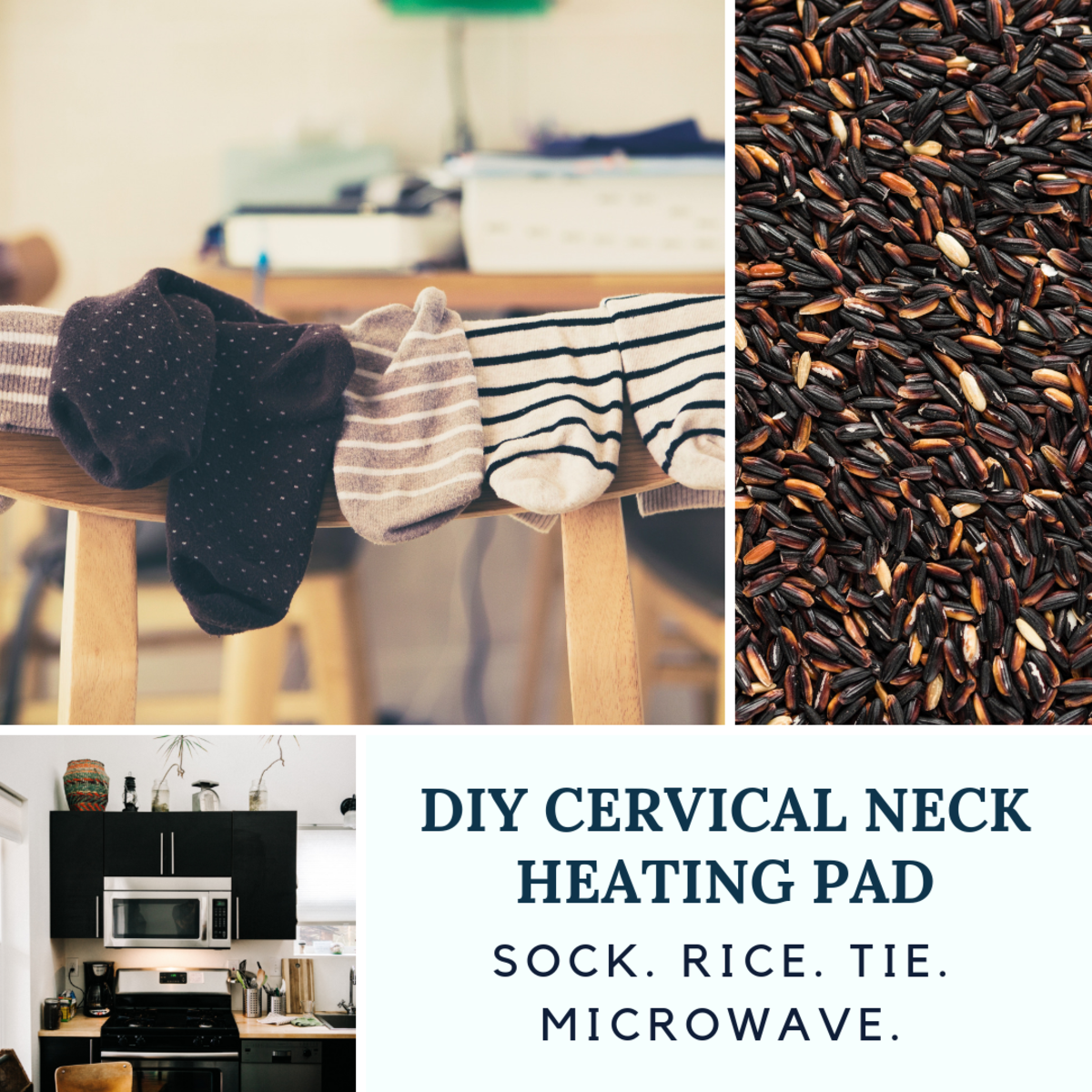 Make your own cervical neck heating pad from simple supplies at home.