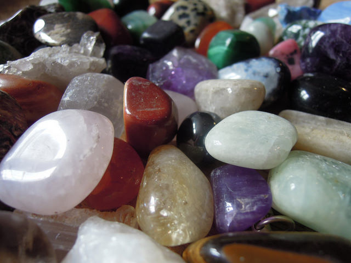 Healing crystals can often be found in unexpected places such as charity shops.