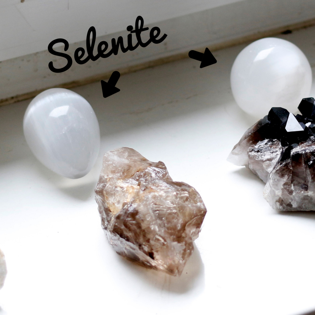 Selenite is used for attracting light energy.