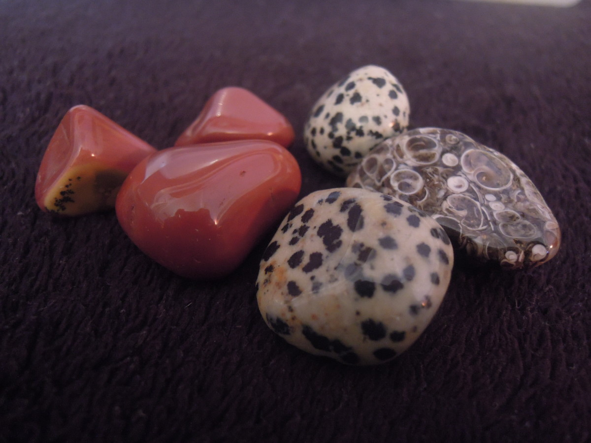 Jasper can be found in a wide variety including dalmation, ocean, red and poppy.