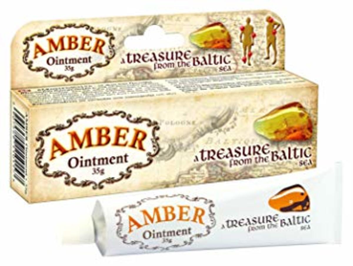 Amber can be made into ointment to treat wounds and provide pain relief.