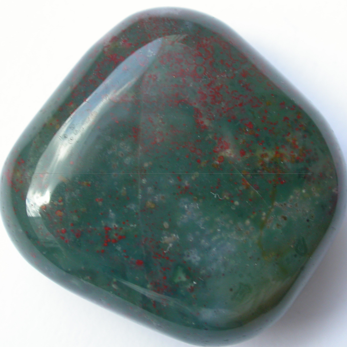Bloodstone is a popular stone used for crystal healing.