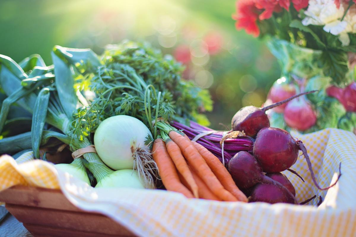 Fresh fruits and vegetables can help you feel upbeat.