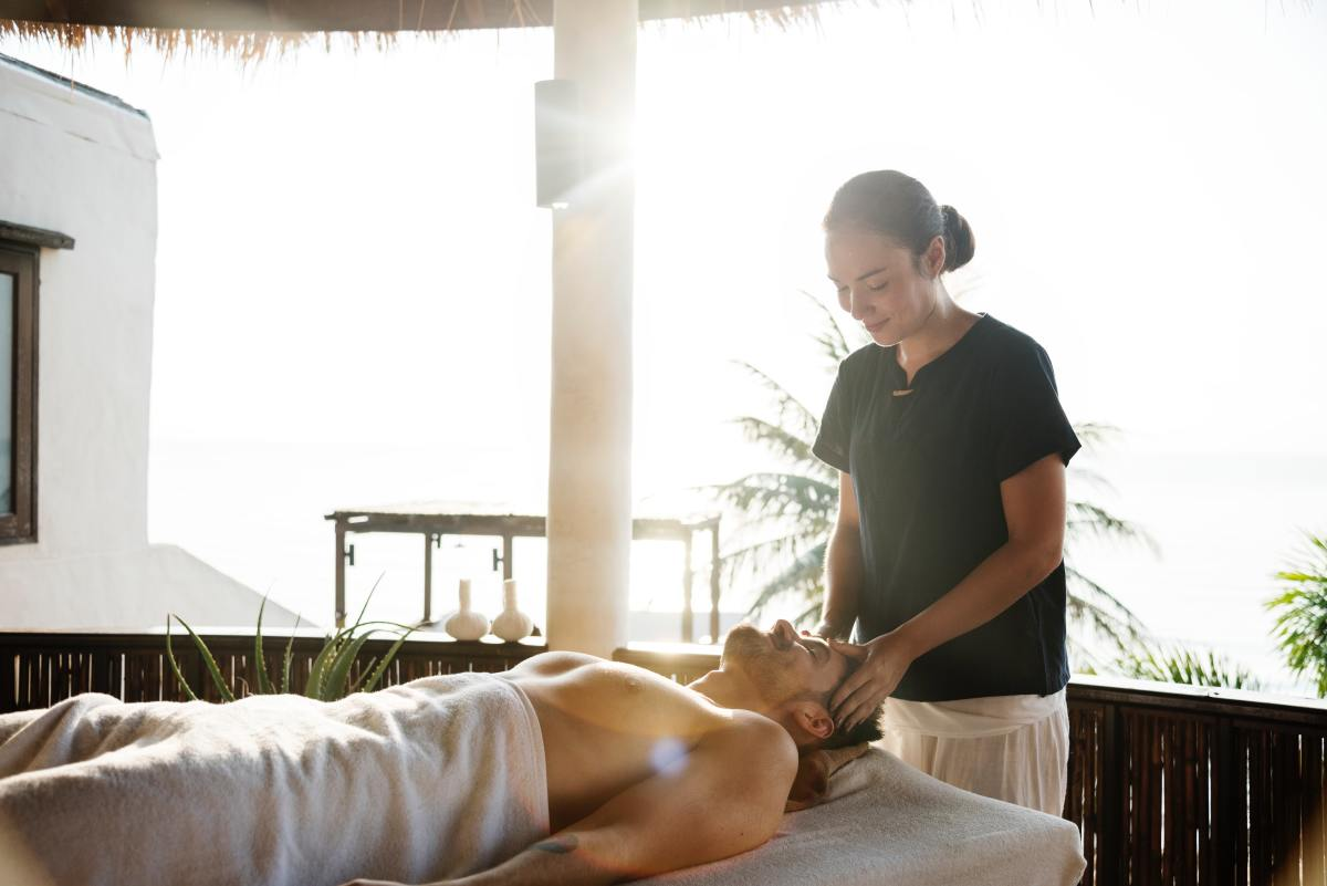 Massages help decrease tension.