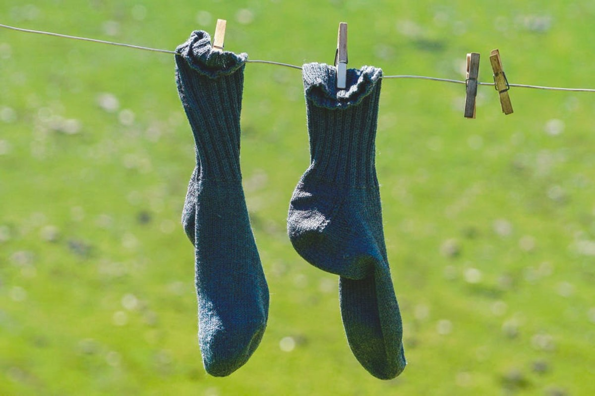Hang dry those socks!