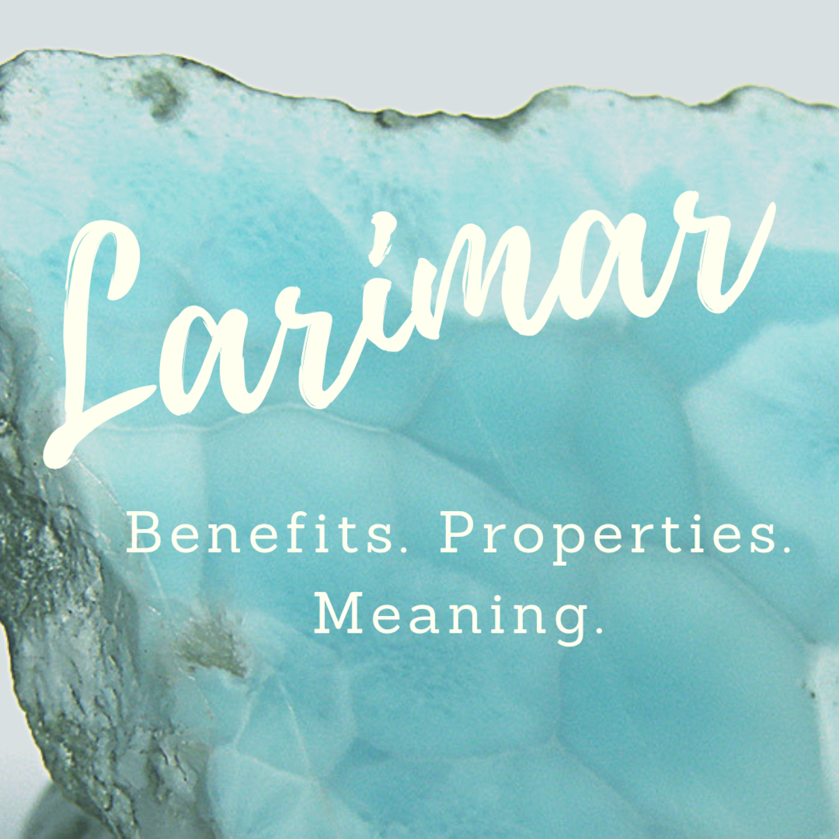 Larimar is an excellent stone for crystal healing.