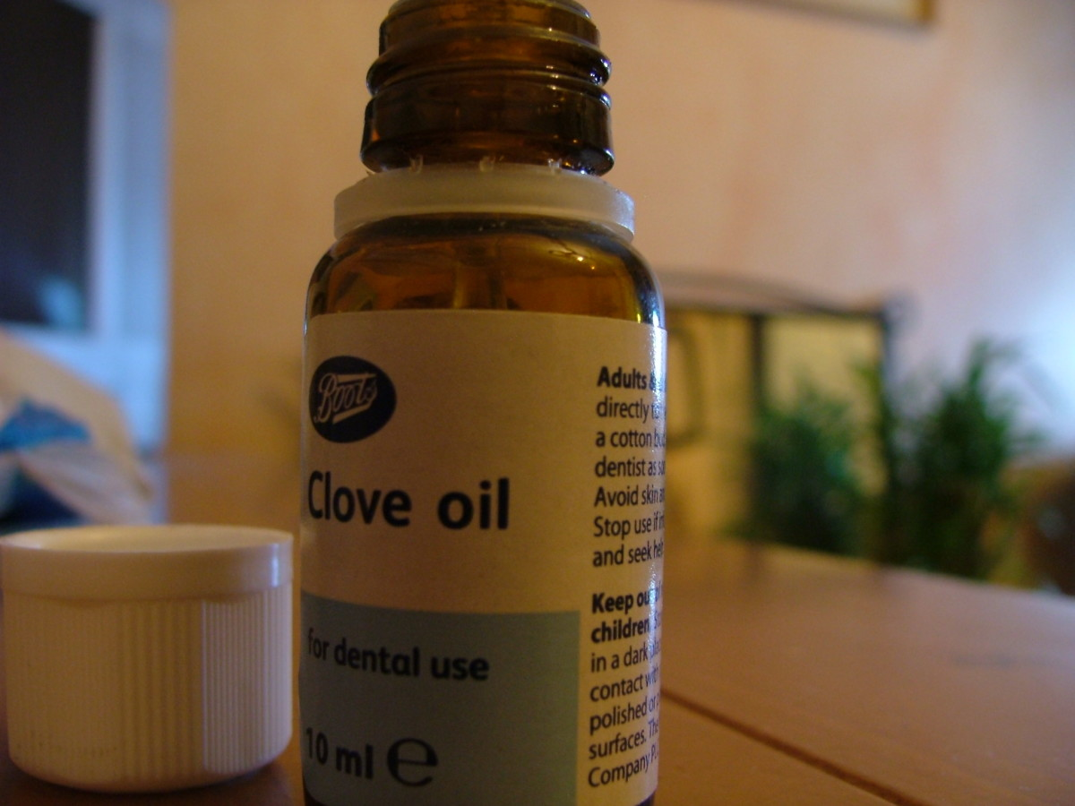 Many oils, such as this clove oil, have infection fighting properties