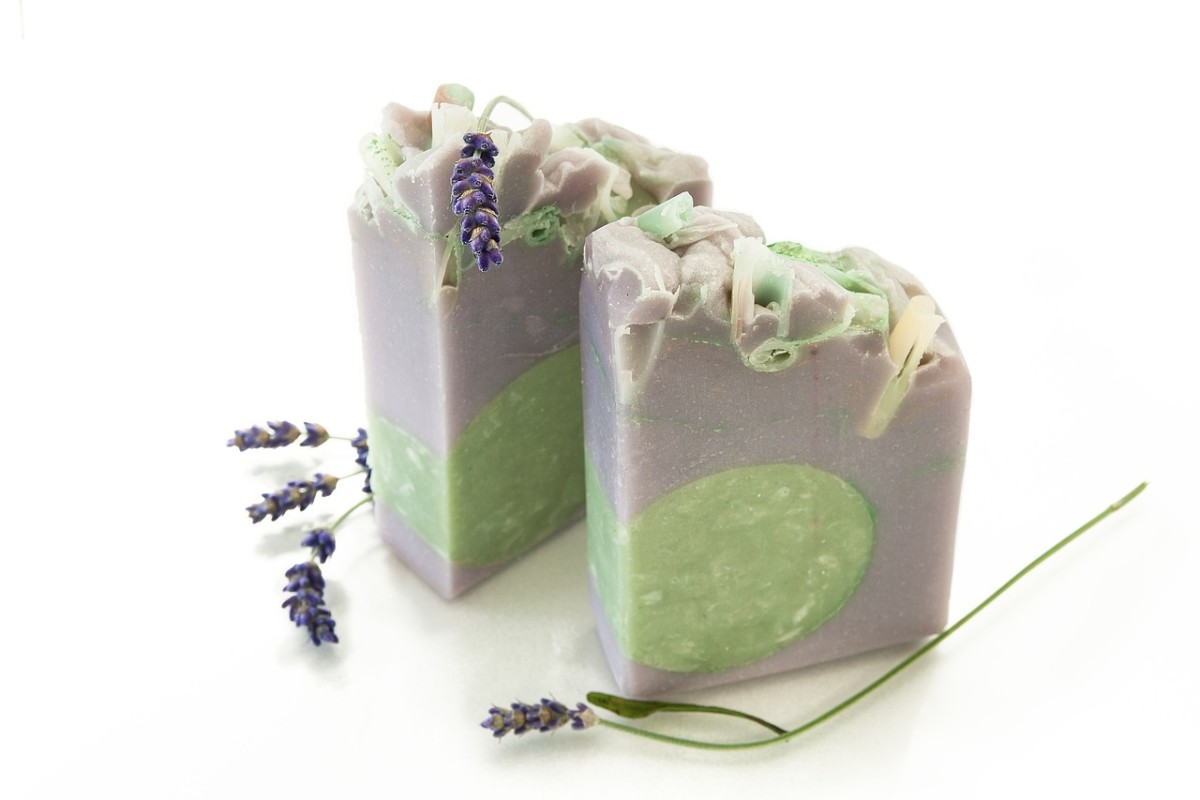 Scent can also trigger ASMR, making aromatherapy soaps, like these lavender bars, a good choice for cutting.