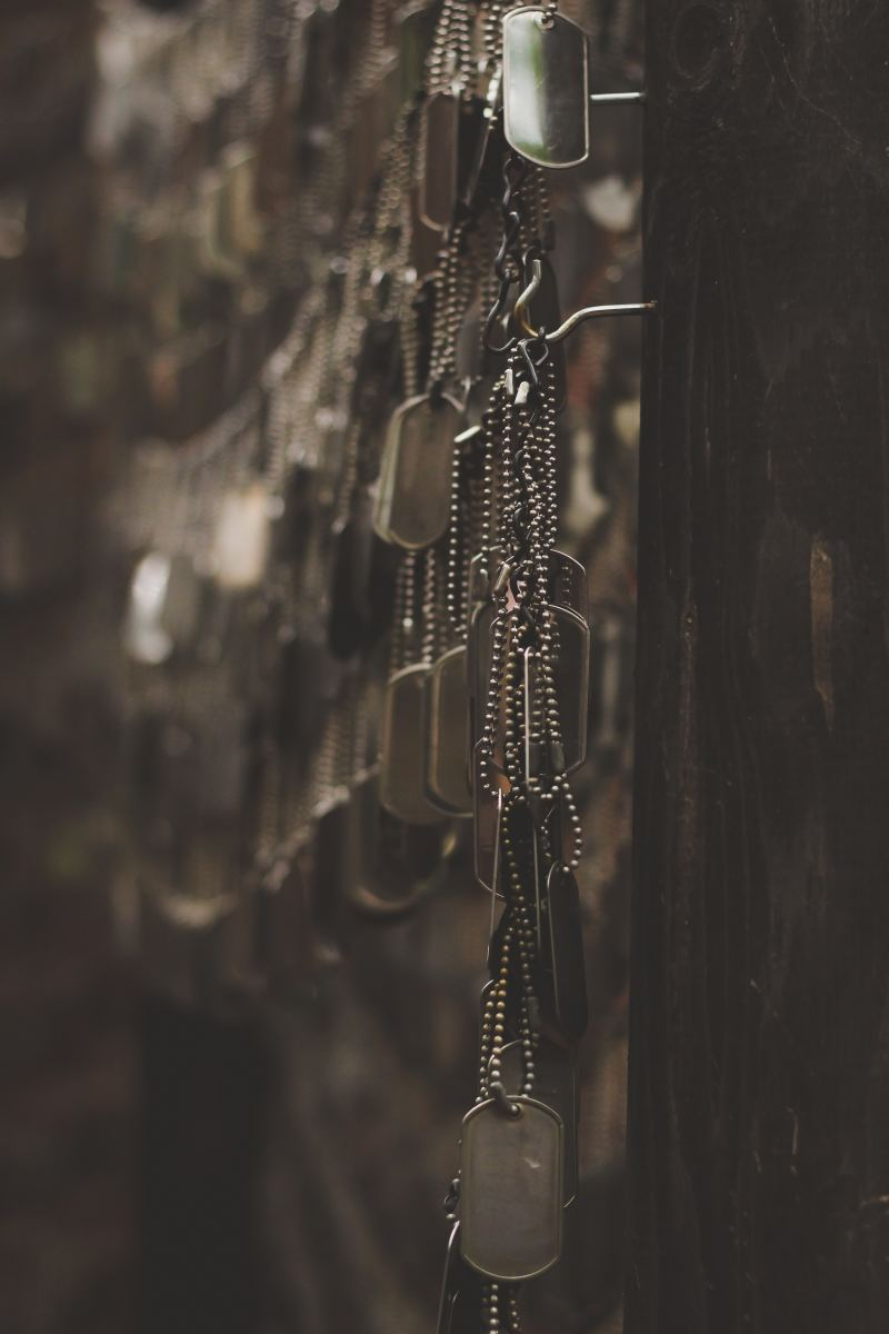 Dog Tags of Military Personnel