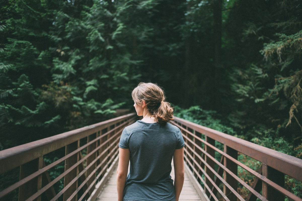 Taking long walks in the forest can help you to be mindful, especially if you do it alone.