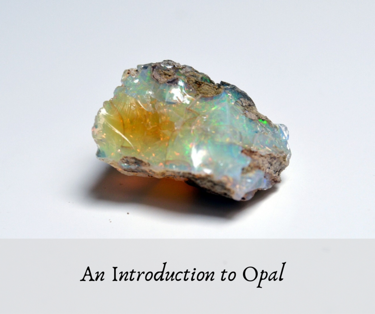 Opal is an iridescent stone that comes in a variety of types and colors, the most common looking almost like a rainbow of color in reflected light.