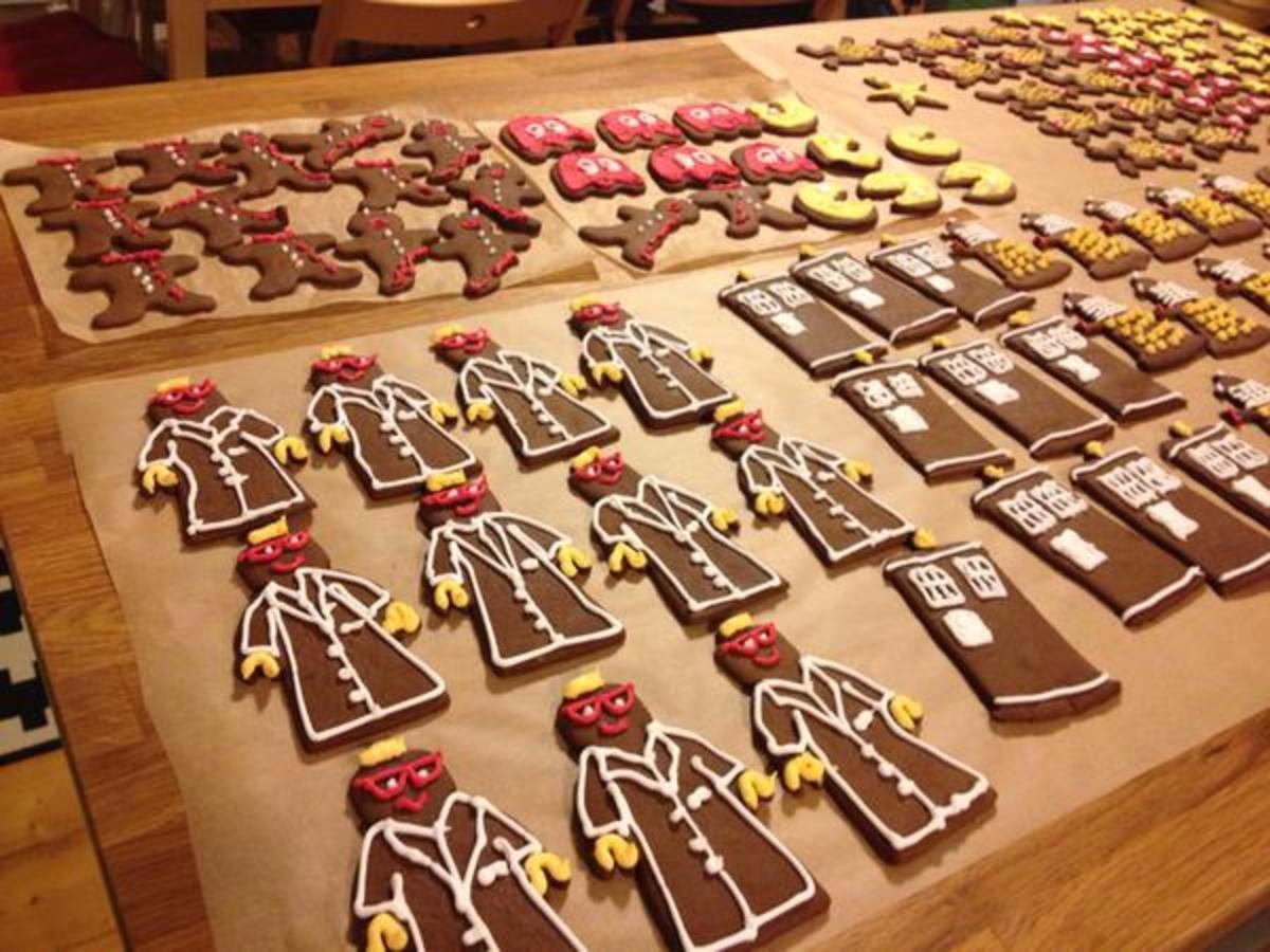 Molasses is a main ingredient in gingerbread cookies.