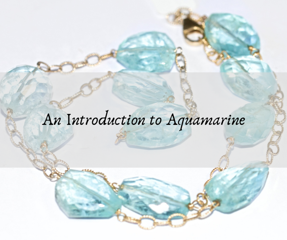 Aquamarine is a clear, blue-green colored stone. It is often associated with courage and calming energies.