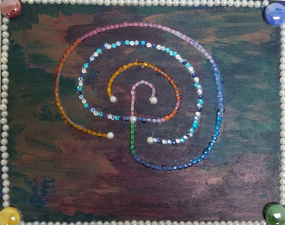 """The """"Earth Labyrinth"""" I created as a functional multi-media work of art"""