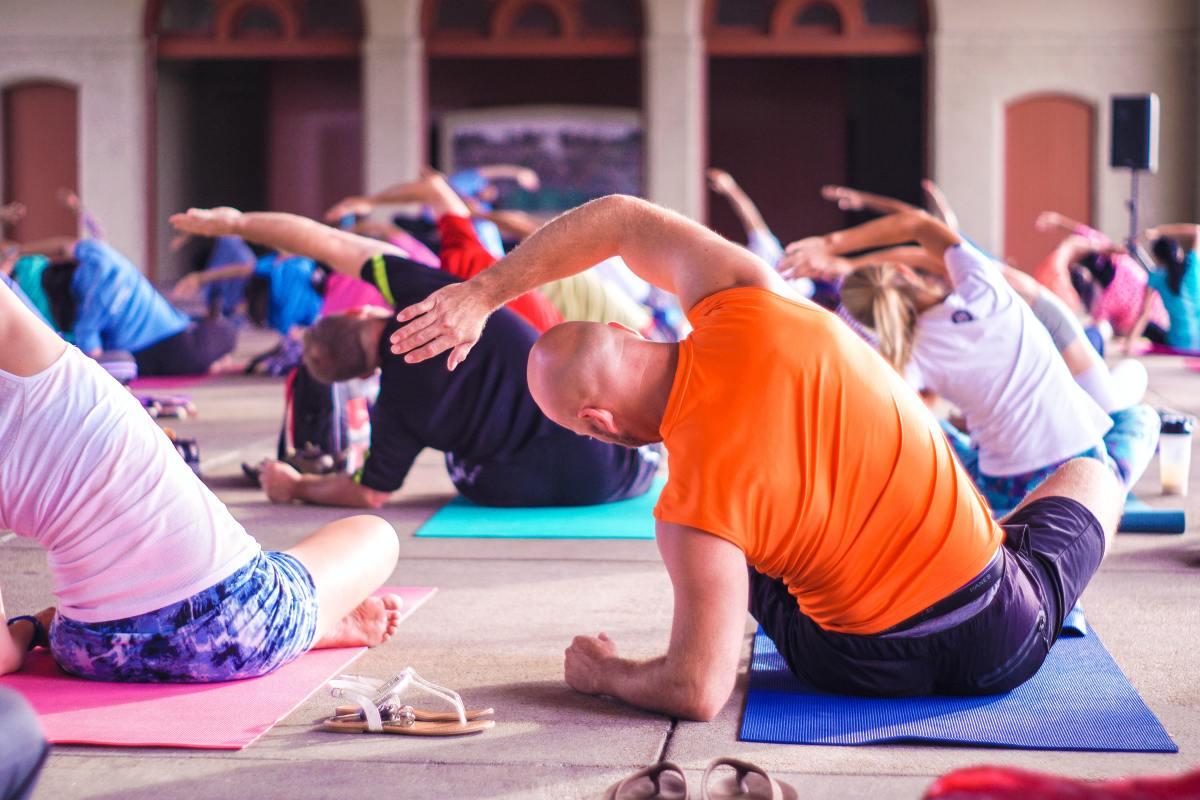 Anyone can do yoga.