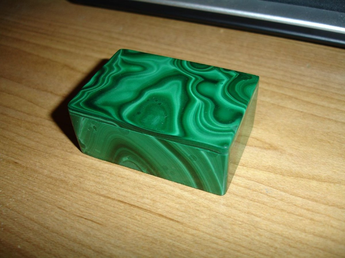 Malachite is a beneficial stone but should be used with care due to its high levels of copper.