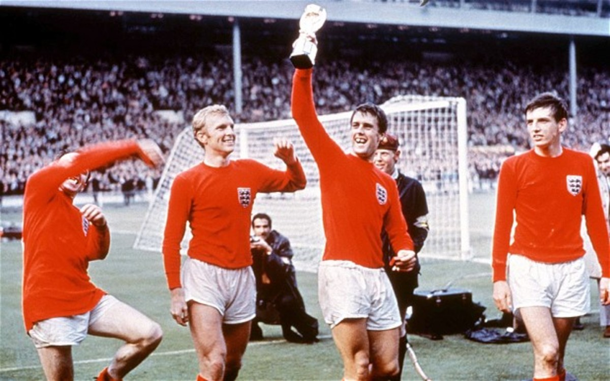 Geoff Hurst with the World Cup trophy in 1966. 1966: The Last Time England Won the World Cup