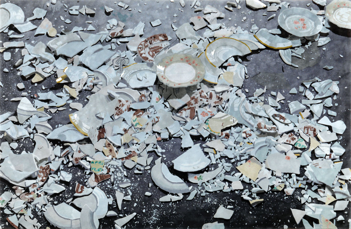 разбитая посуда фото формирования цыплят