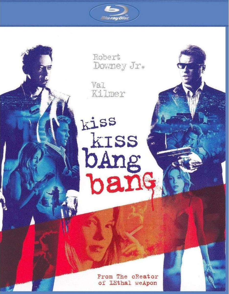 "The official Blu-ray cover for Shane Black's, ""Kiss Kiss Bang Bang."""