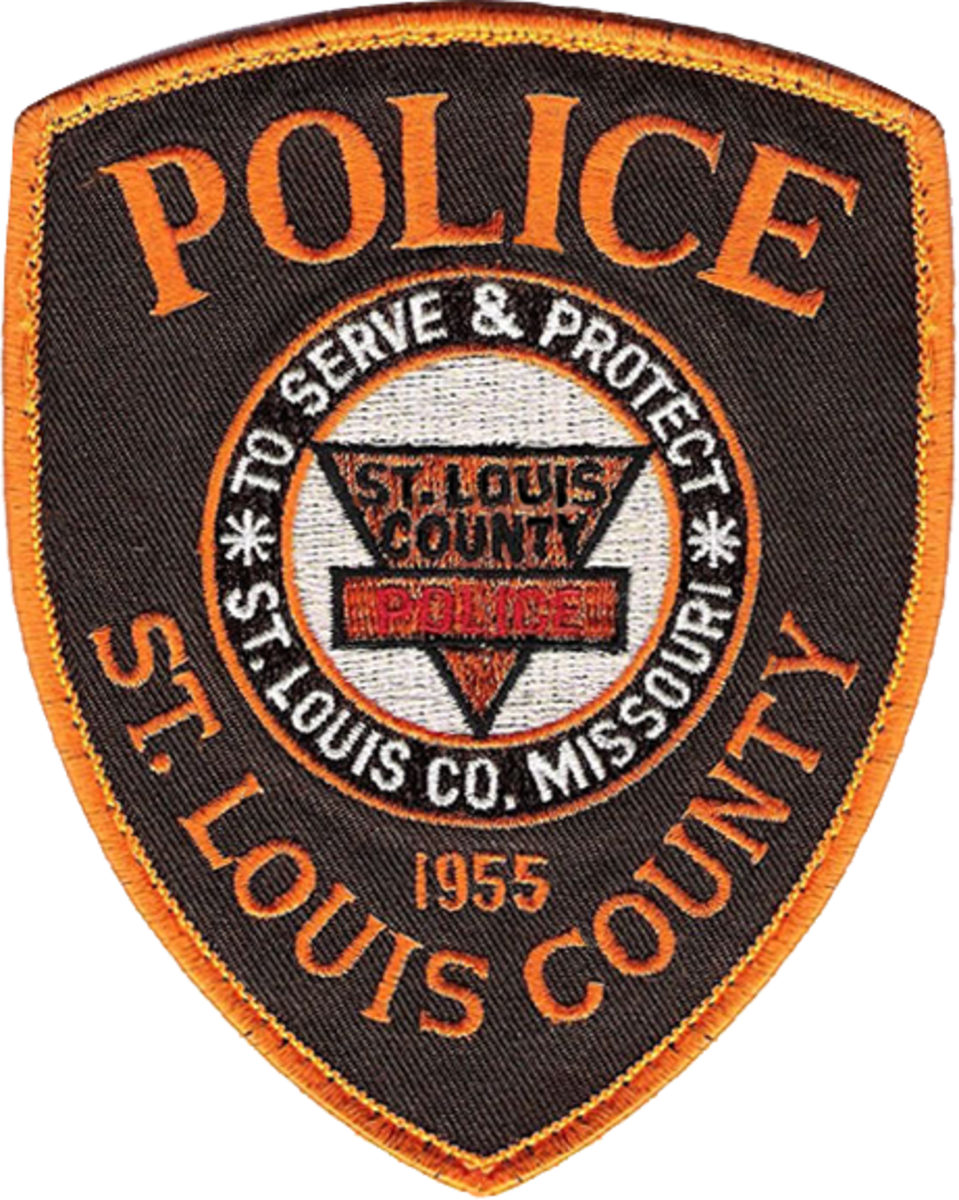Present uniform shoulder patch for the St. Louis County Police Department in 2018.