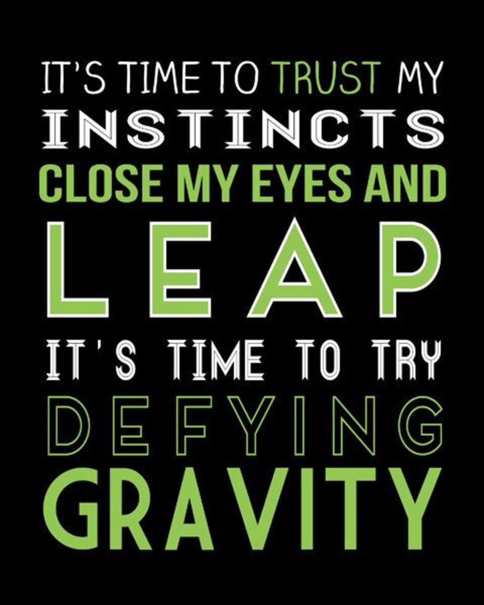 Sometimes, You've Got To #DefyGravity